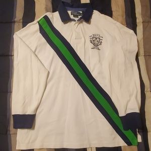 Polo Rugby - White, Green and Blue